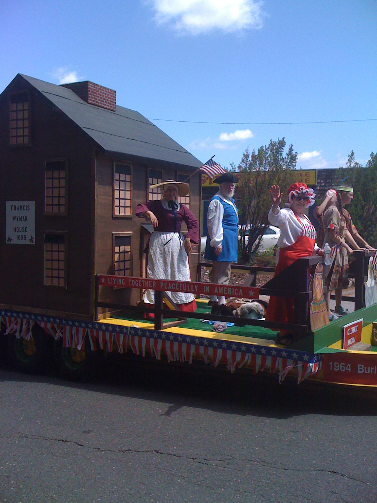 Our house was the anchor float of the parade