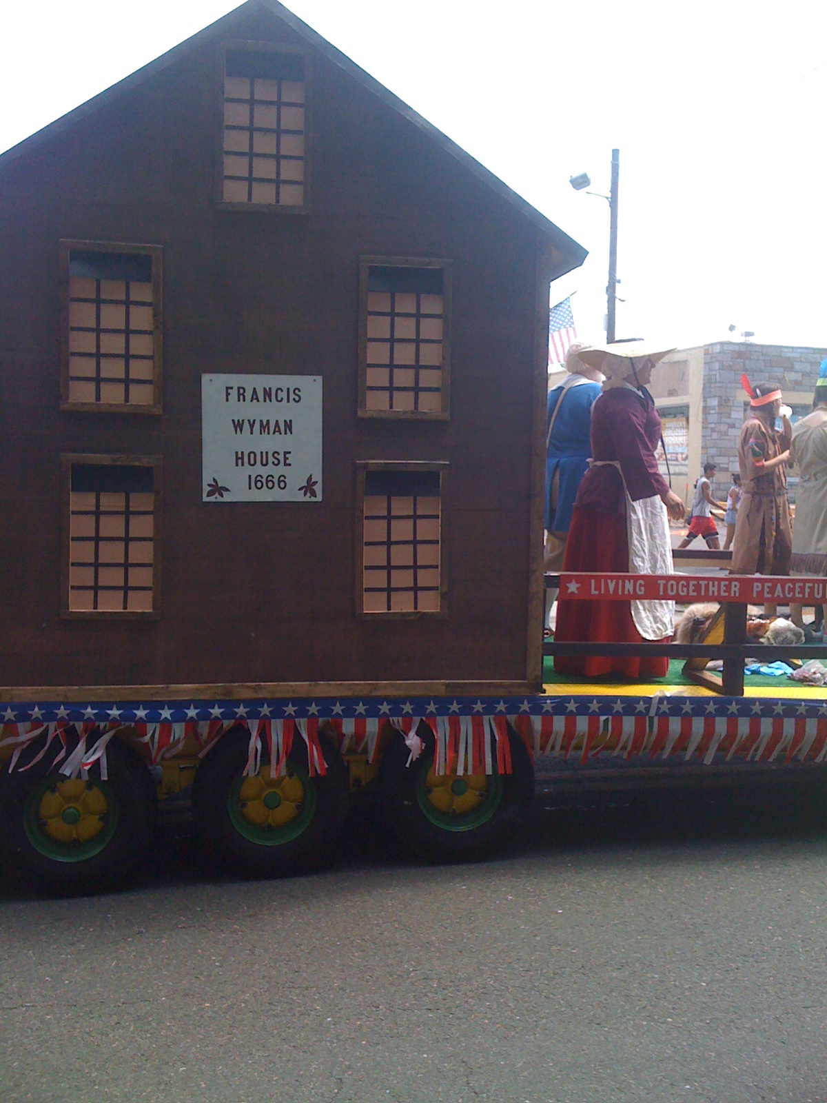 Our house continues down the parade route