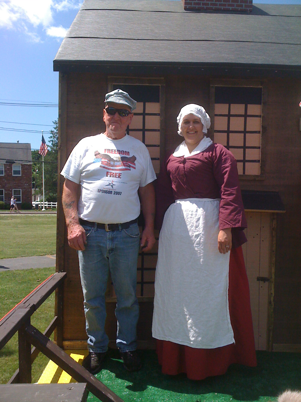 Rebecca poses with Fred Keene, our float builder