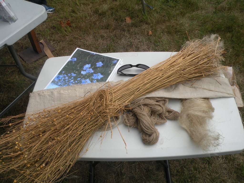 Wyman Annual Meeting 9-21-13 flax into cloth